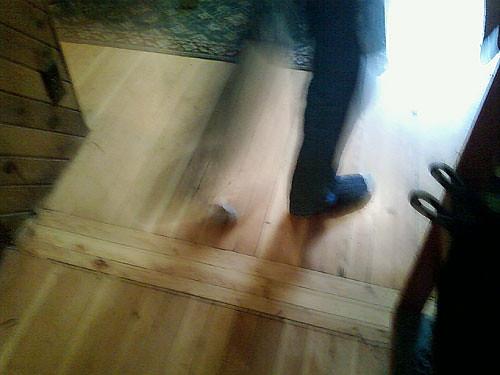Socks on a Wooden Floor  by Karyn Ellis