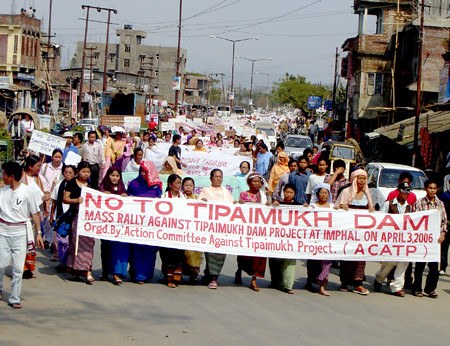 Protest in Manipur against Tipaimukh