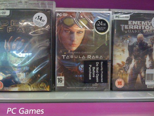 Tabula Rasa still on sale