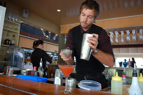 the best cocktail in the world = AKA the lion made by Bartender Steve who won the contest over 3 other bartenders on Hamo