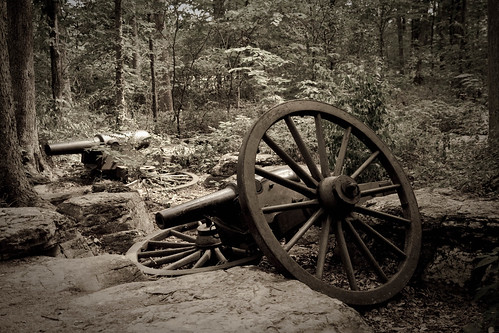 Abandoned cannon at the battlefield.