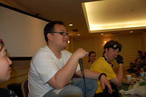 Half of the cast of the Random Discussion Panel