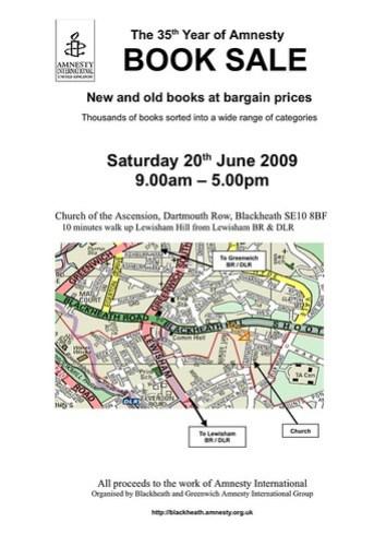 Amnesty International book sale 2009