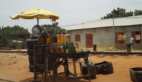 Gasoline, road from Cotonou to Ouidah, Benin.