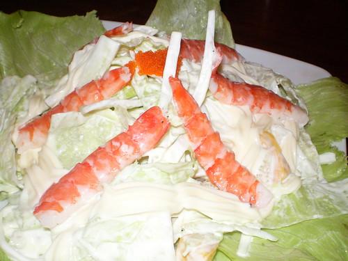 Hot prawn salad