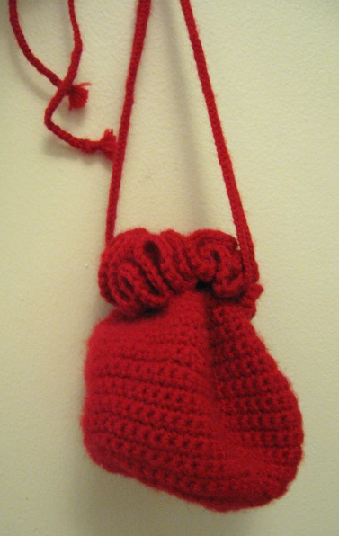 Crochet Purse #1, Lion Brand Wool