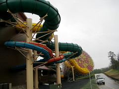 Water slides at the Great Wolf Lodge