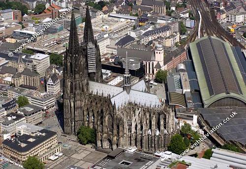 Kölner Dom Luftbild