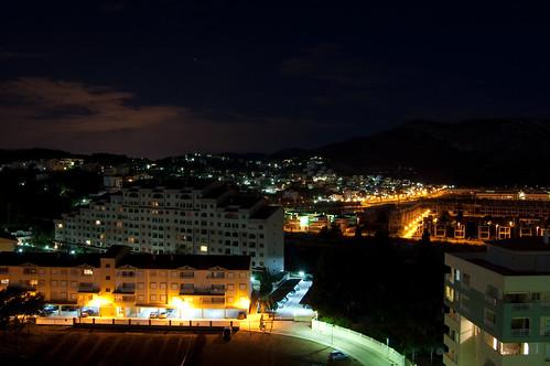 La montaña de noche