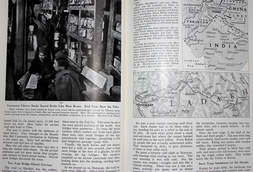 Library and map of Ladakh