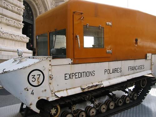 Expéditions Polaires Françaises (French Polar Expeditions) vehicle outside the Musée Océanographique de Monaco.