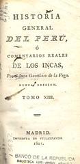 Historia general del Perú o comentarios reales...