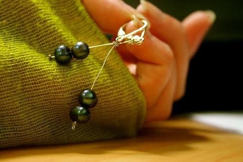Monday: Pearl Earrings I made!