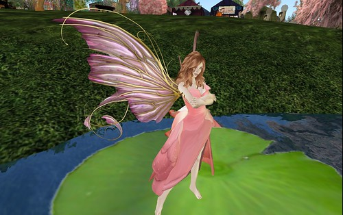 Radiant Rose gown with Aphrodite wings