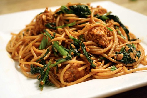 Brocolli Rabe and Spicy Temeph Pasta