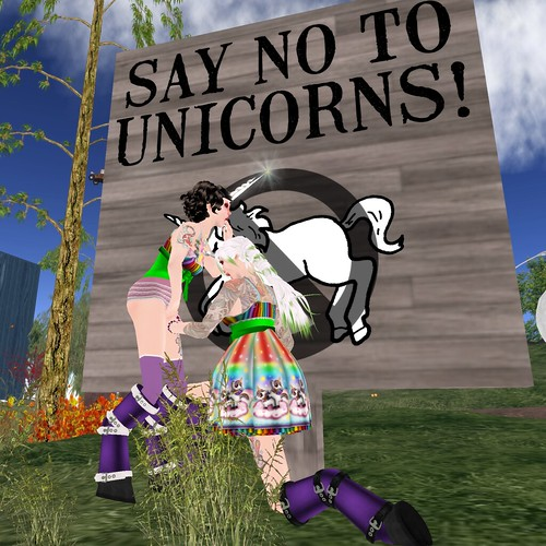 Swept up in the unicornyness, Adaire reached for Katat0nik...in a very inappropriate place.