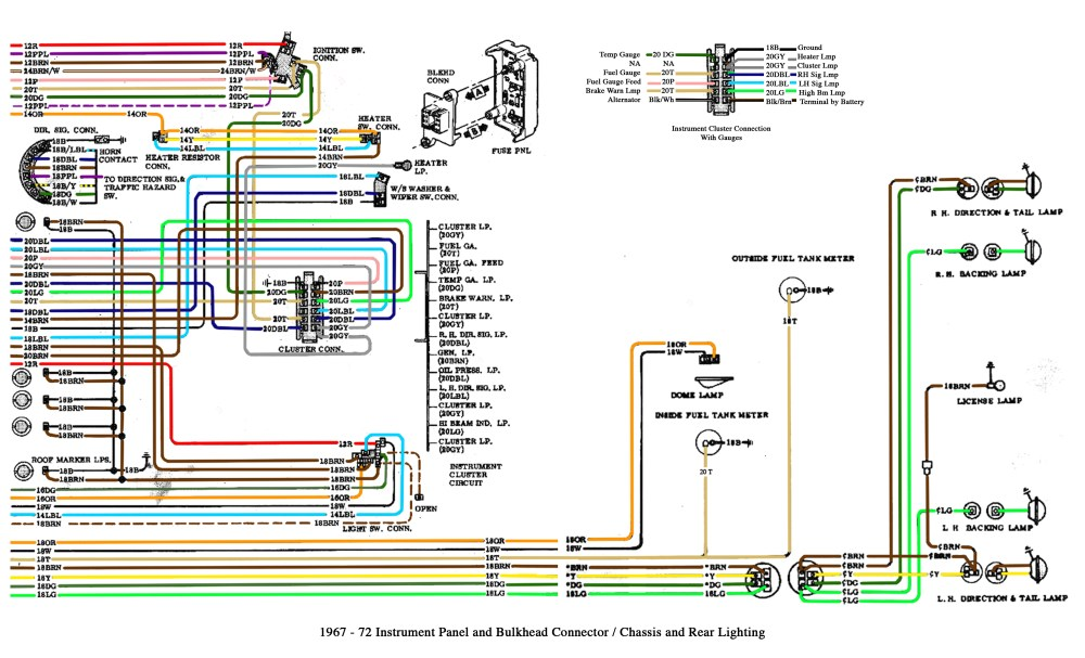 medium resolution of color wiring diagram finished the 1947 present chevrolet gmc 67 c10 pickup wiring a 67 c10
