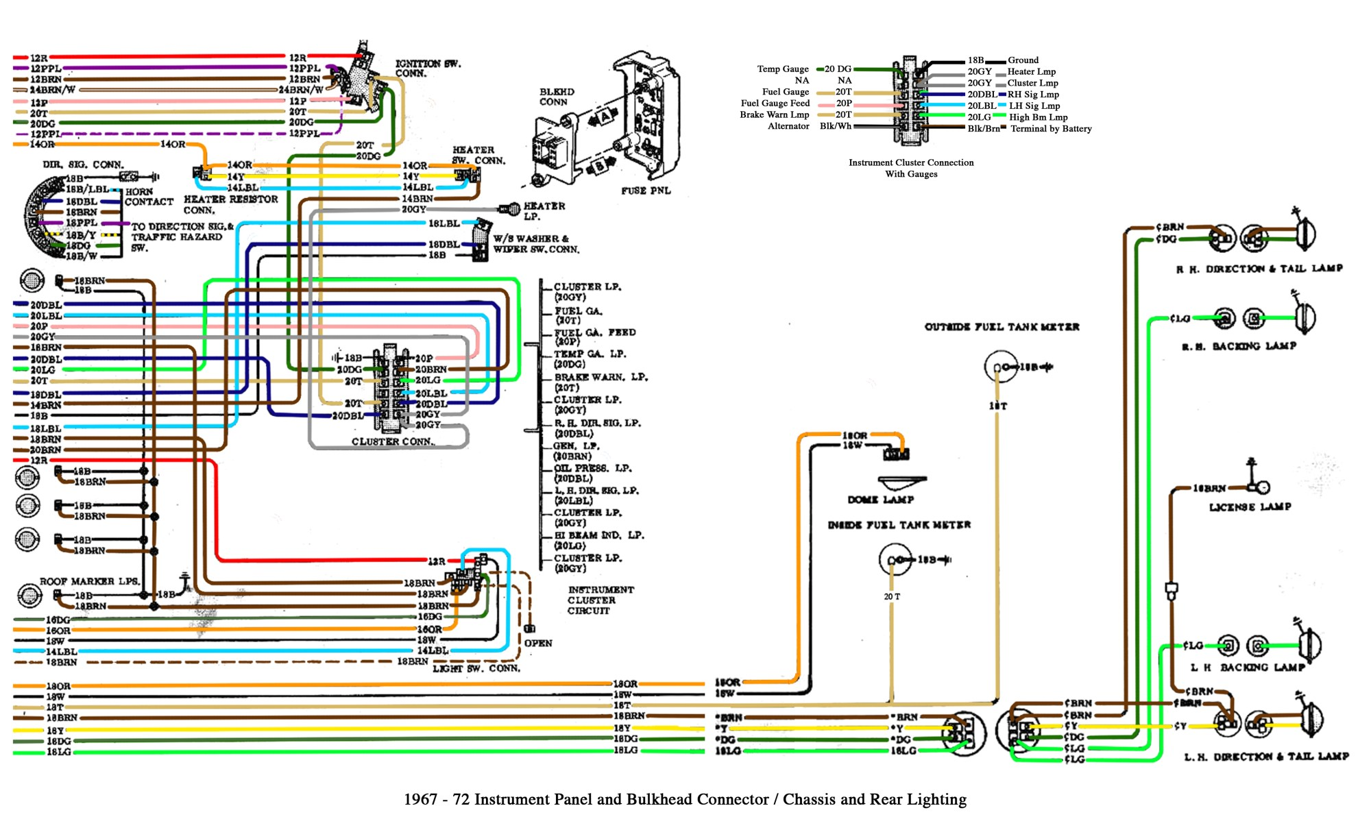 hight resolution of color wiring diagram finished the 1947 present chevrolet gmc 67 c10 pickup wiring a 67 c10
