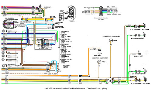 color wiring diagram finished  the 1947  present chevrolet