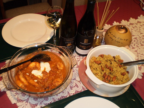 Prawn Curry and Royal Festival Biryani
