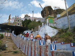 Middle Tier temple, Top Tier Temples and Lion faced rock (by Raju's Temple Visits)