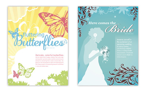 Heres the Fluttering Butterflies and Here Comes the Bride openers from our March/April 2009 issue.