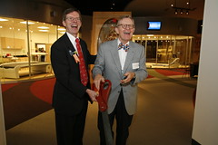 Cutting the Ribbon with Dr. Gee