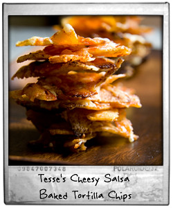 Tesse's Cheesy Salsa Baked Tortilla Chips