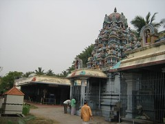 Sri Ardhanareeswarar Temple - Sri Ashtabuja Duragai amman shrine behind Sri Ardhanareeswarar shrine