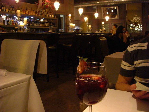 Luna Restaurant, Champaign IL & tasty sangria
