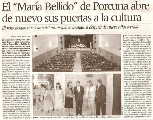 Recorte de prensa de Diario Jaén, del 20-06-2009, pág. 67
