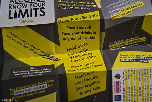 BedSafe alcohol consumption guidance leaflet _G106908