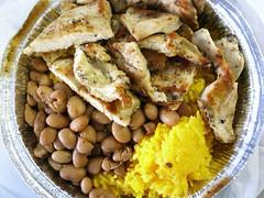 Grilled chicken w/ rice & beans