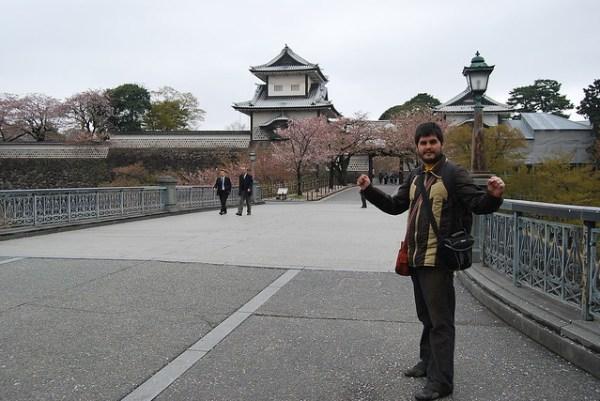 Entrando al Parque del Castillo de Kanazawa