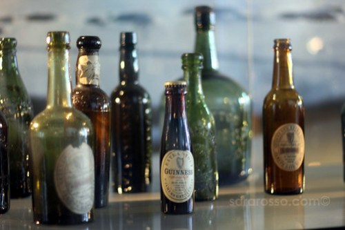 Old Guinness bottles, Guinness Storehouse, Dublin, Ireland