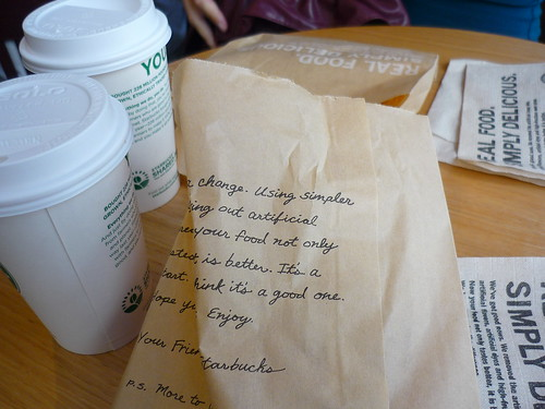 Starbucks breakfast in a bag