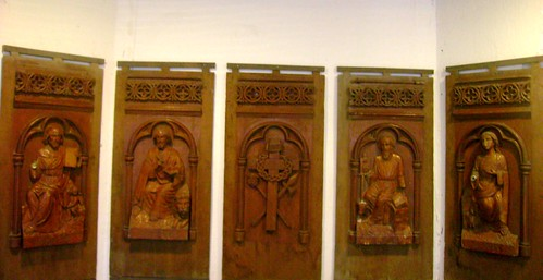 The wooden engraving of Saints