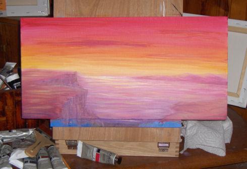 3-25-09- sunset landspace - work in progress