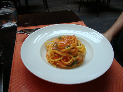 Spaghetti, Tomato, Basil