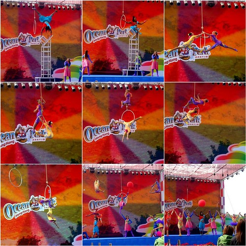 HK Ocean Park acrobat show