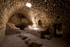 Dust Beam in Kerrak Castle, Jordan