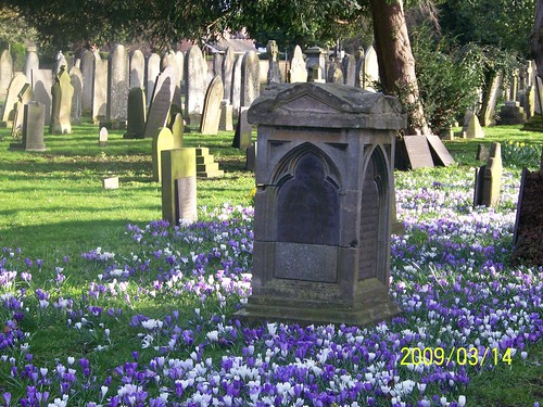 Spring at Newark Cemetery by you.