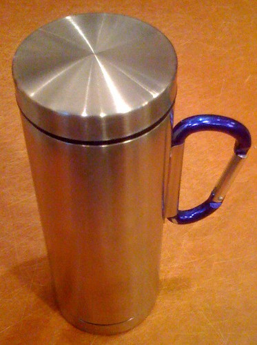 Stainless Travel Mug with Carabiner 12oz