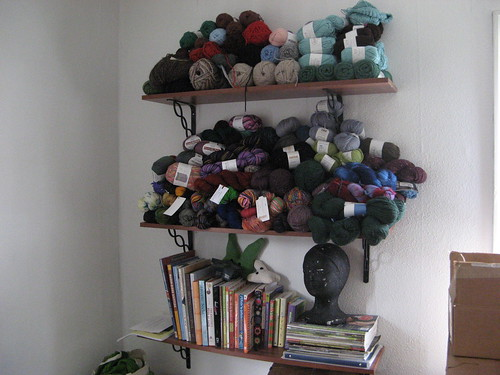 thats most of my yarn...though there are some storage bins stacked underneath.