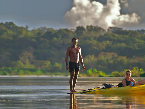 Maneu, our guide in the Amazon, riding t by alextorrenegra, on Flickr