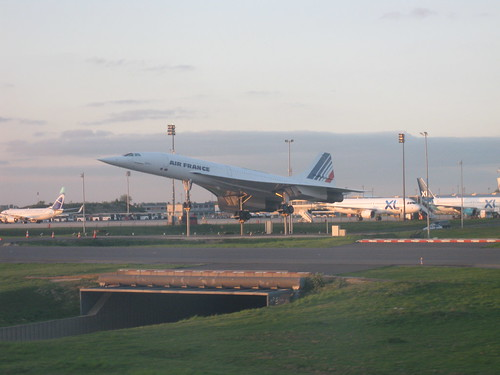 Retired Concorde in Charles de Gaulle Airport