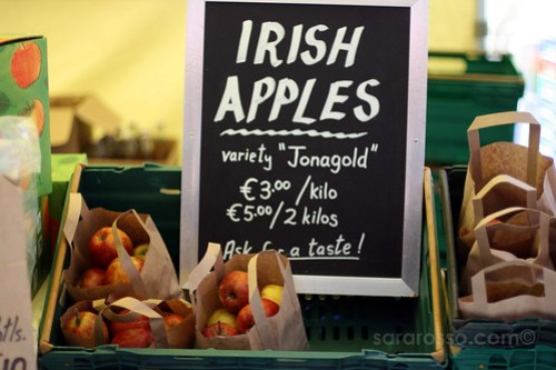Jonagold Irish Apples at Temple Bar Food Market in Dublin, Ireland