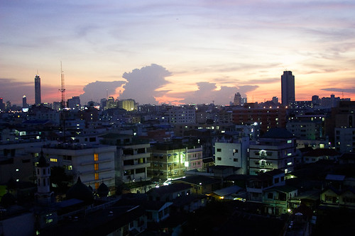 Bangkok Sunset from the Apartment