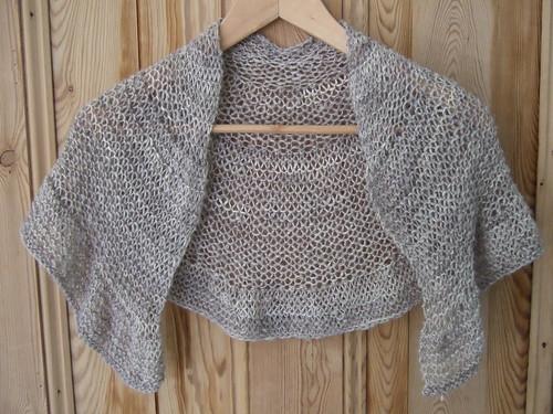 alpaca silk shawlette