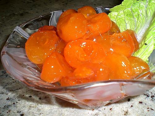 Sweet Cheese Dessert & Baby oranges Marmalade